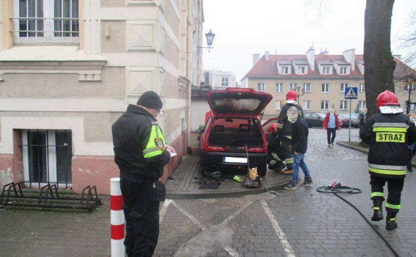 Pożar samochodu.