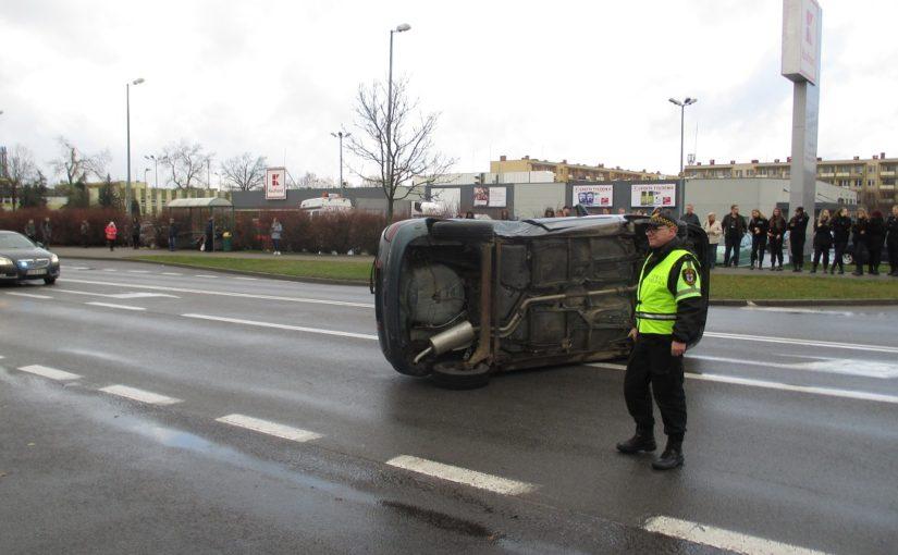 Inscenizacja wypadku w Chojnicach