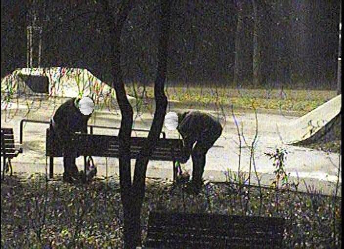 Wyrwali ławkę w parku.